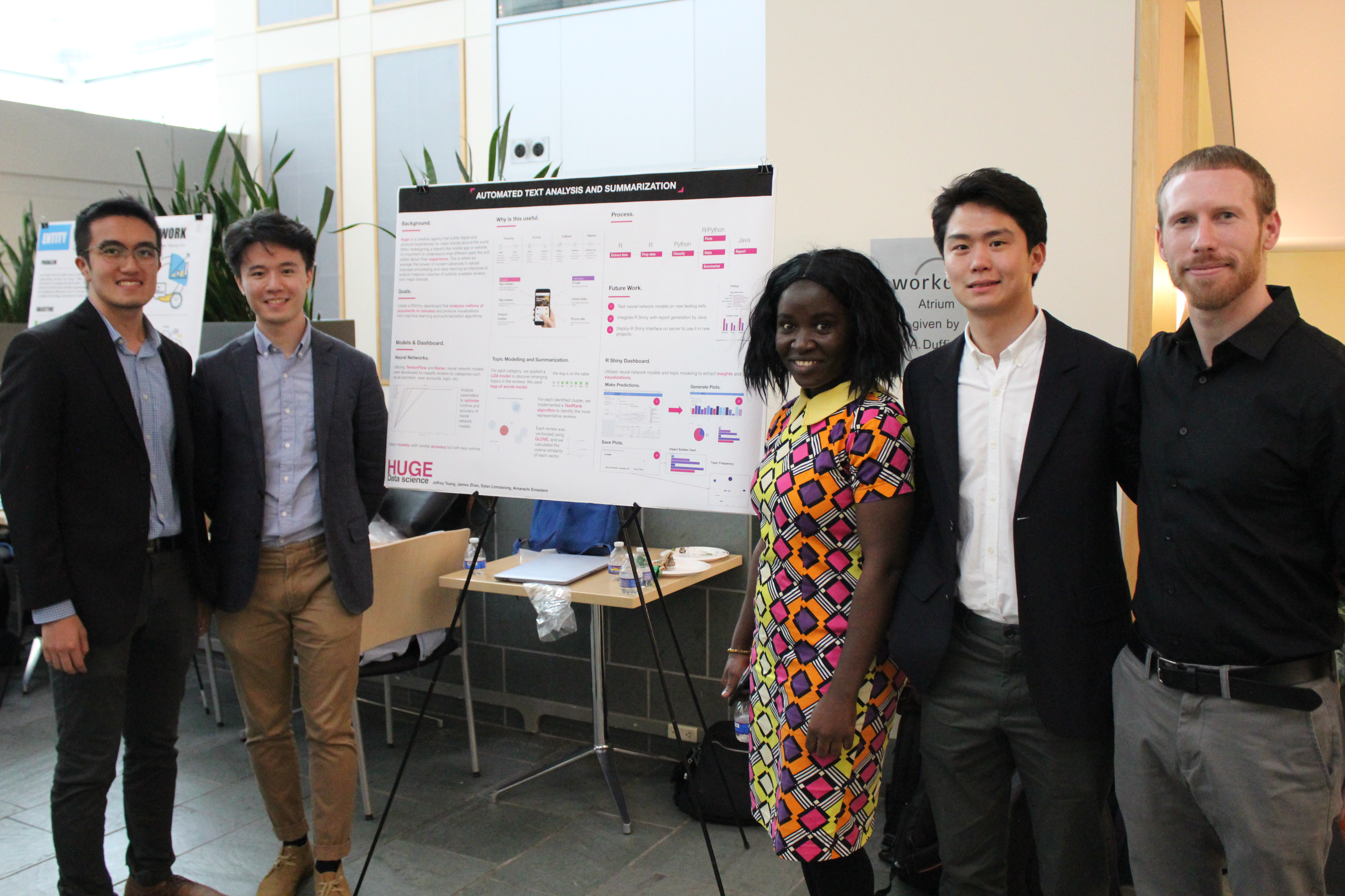 The MPS student team posing near their project poster