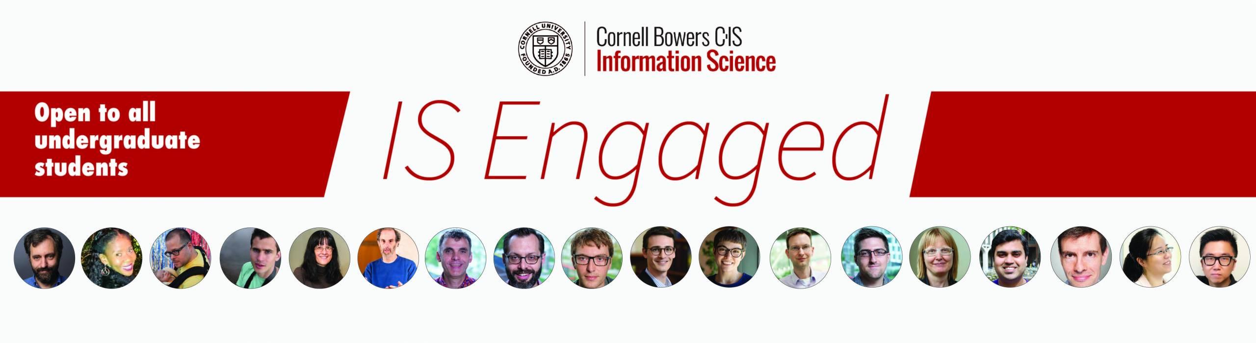 IS Engaged - Ugrad Advising Forum open to all Cornell undergraduates