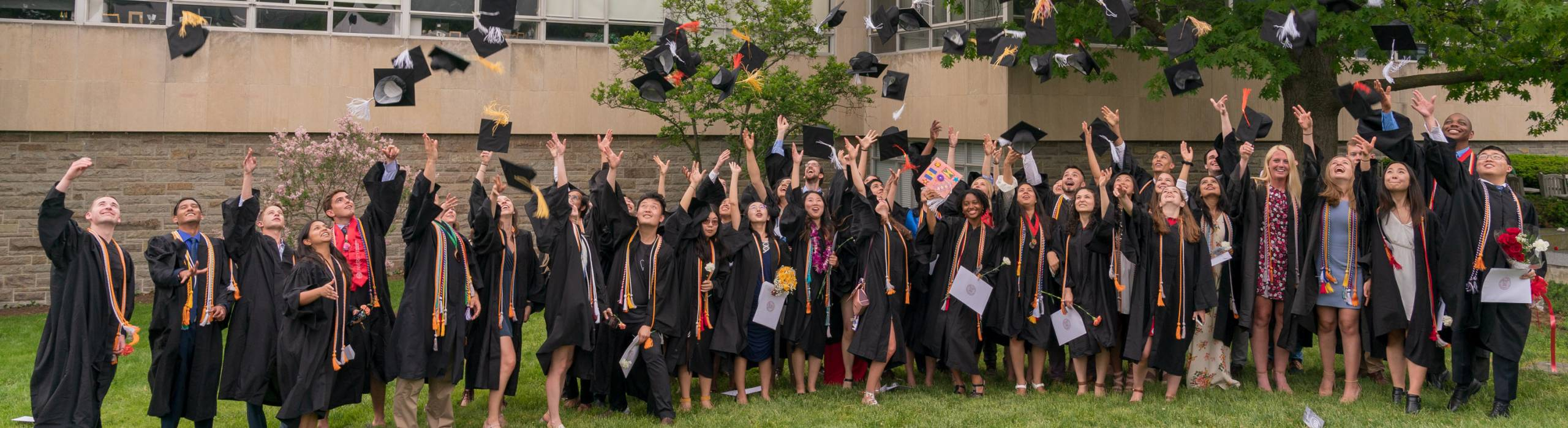 Info Sci's graduating class of 2018 during commencement ceremonies on May 26, 2018.