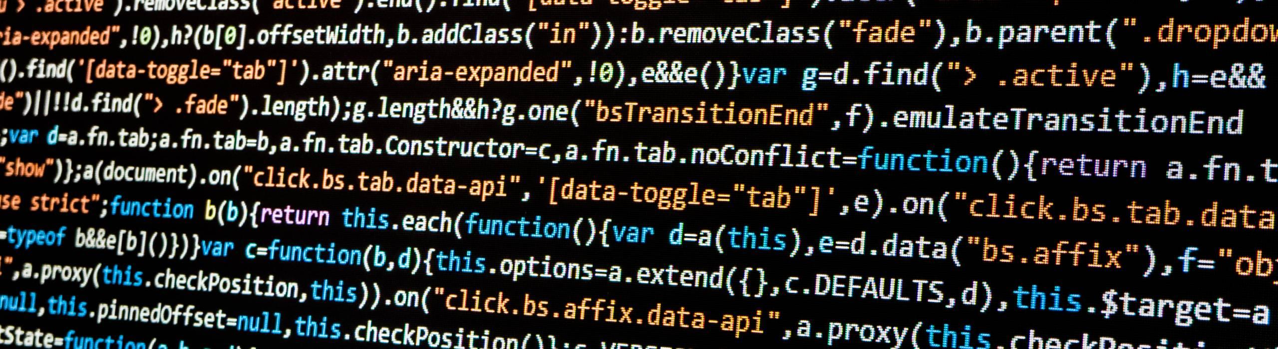 Stock photo of computer code