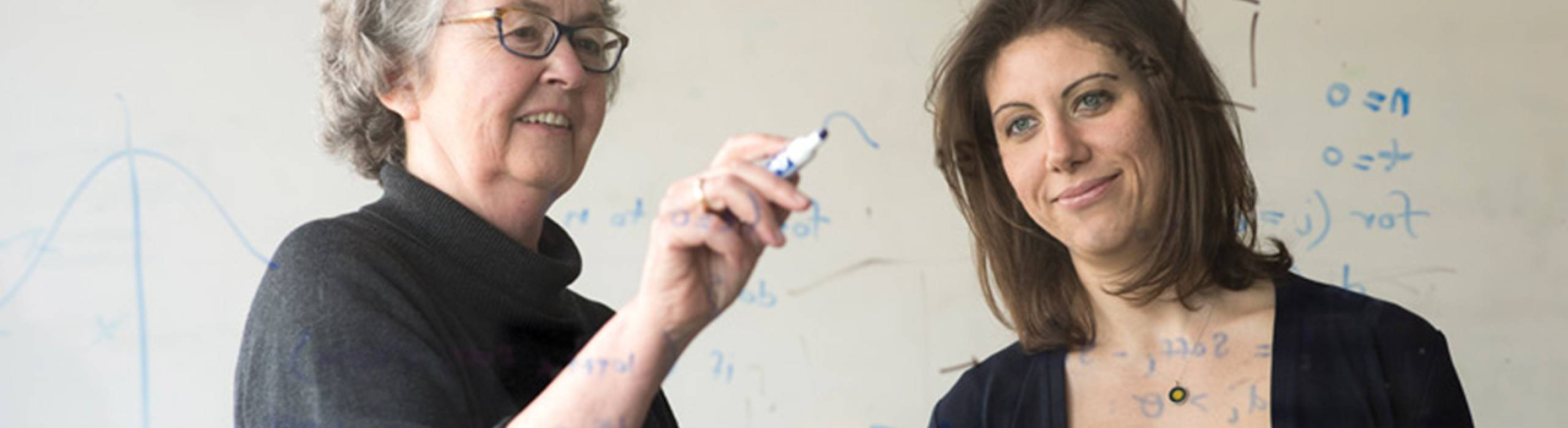 Geri Gay, the Kenneth J. Bissett Professor of Communication, and Elizabeth Murmane, Ph.D. '17.