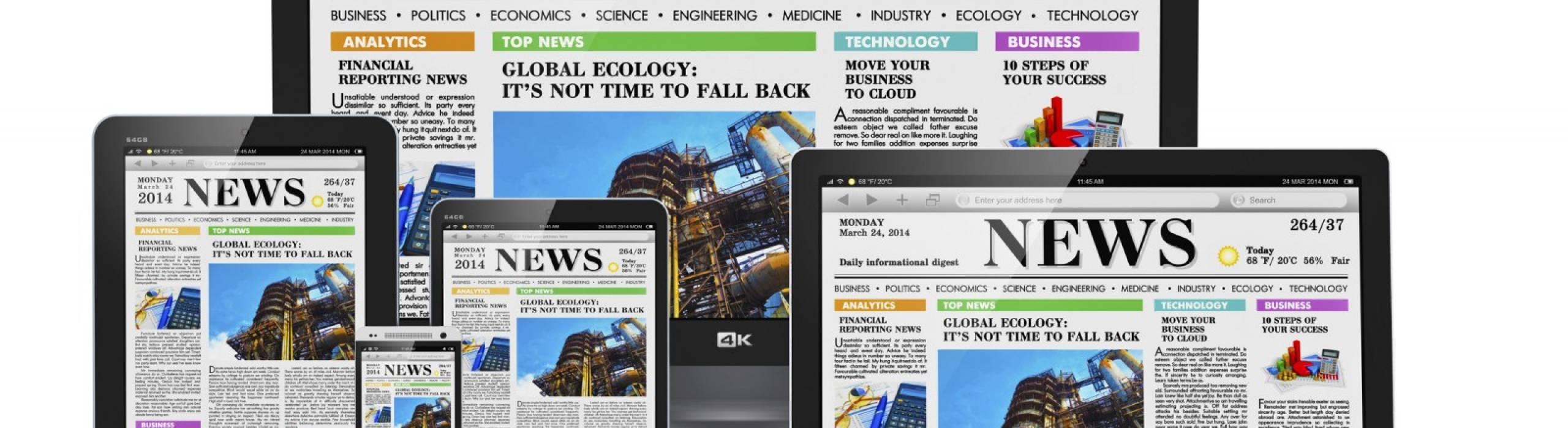 Digital news stock photo