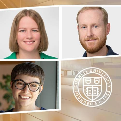 Three Cornell CIS faculty members – Nicola Dell, Karen Levy, and Tom Ristenpart