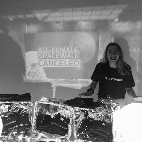 Shoshana Swell '21, at a pop-up event in May launching her fashion line.