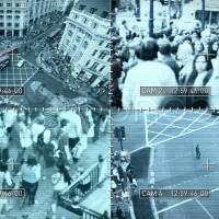 Stock photo of surveillance video screen